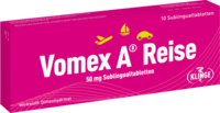 VOMEX A Reise 50 mg Sublingualtabletten